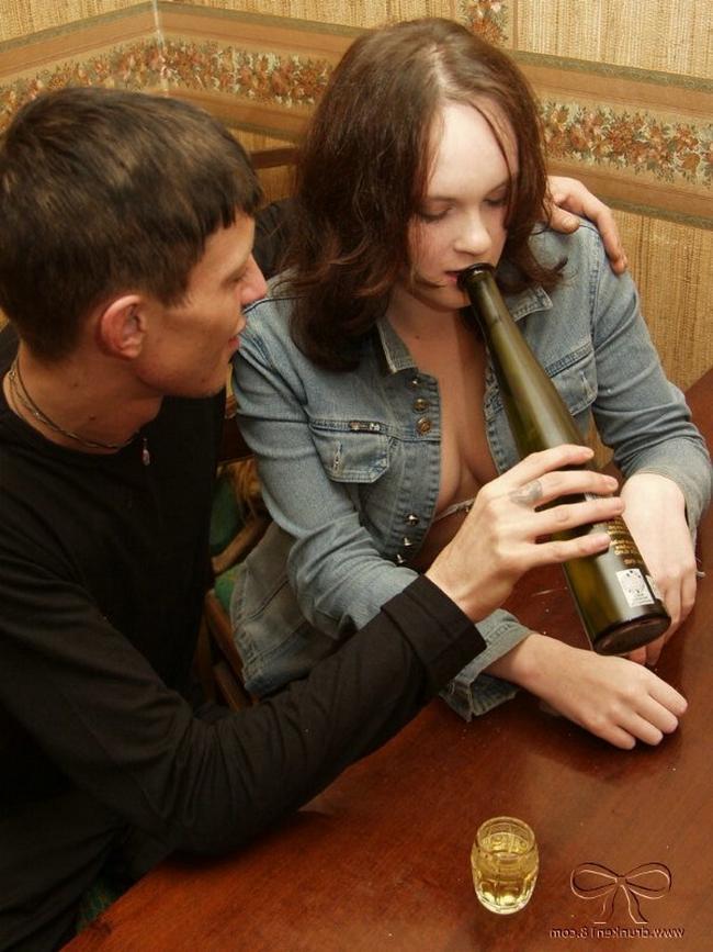 секс с пьяной молодой девушкой