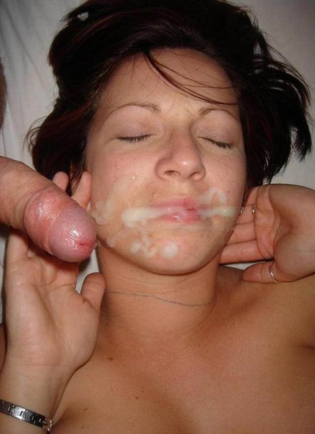 Порно фото сперма на лицо молодой толчки
